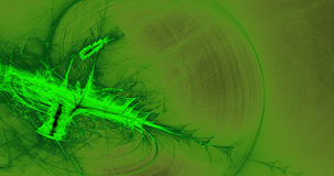 Linhas abstratas verdes fundo das partículas das curvas Foto de Stock
