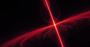 Linhas abstratas vermelhas e amarelas fundo das partículas das curvas Fotos de Stock Royalty Free