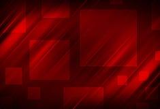 Linhas abstratas vermelhas e fundo quadrado Imagens de Stock