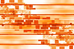 Linhas alaranjadas e fundo abstrato quadrado Foto de Stock