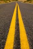Linhas amarelas de Brght Fotografia de Stock