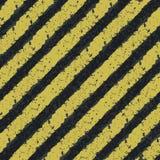 Linhas amarelas do perigo Fotografia de Stock Royalty Free