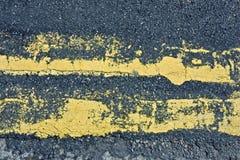 Linhas amarelas negligenciadas Fotografia de Stock Royalty Free