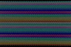 Linhas angulares coloridas Foto de Stock