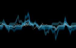 Linhas azuis abstratas Foto de Stock