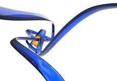 Linhas azuis abstratas Imagens de Stock Royalty Free
