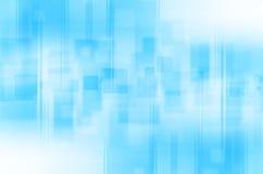 Linhas azuis abstratas fundo quadrado Fotos de Stock Royalty Free