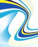 Linhas azuis abstratas molde Imagens de Stock Royalty Free
