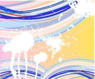 Linhas azuis abstratas molde ilustração stock