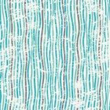 Linhas azuis abstratas textura sem emenda com efeito do grunge Foto de Stock Royalty Free