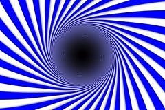 Linhas azuis buraco negro do fundo abstrato Imagem de Stock Royalty Free