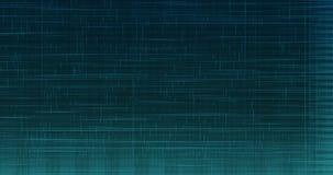 Linhas azuis elettric verticais e horizontais digitais abstratas movimento do fundo, animação pronta do laço sem emenda ilustração do vetor