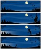 Linhas azuis em um tema de Halloween ilustração do vetor