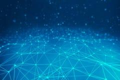 Linhas azuis fundo para o conceito da tecnologia, abstrato fotografia de stock