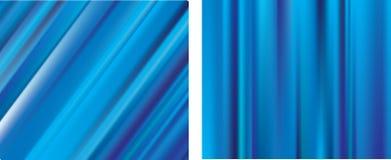 Linhas azuis fundos do borrão do engranzamento do inclinação Fotografia de Stock