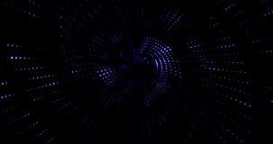 Linhas azuis redemoinho da faísca colorida abstrata do brilho da disposição do córrego com partículas na tecnologia preta do fund ilustração royalty free