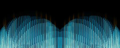Linhas azuis sumário Fotografia de Stock Royalty Free