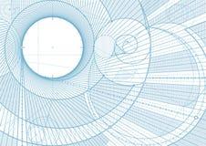 Linhas backgroundA do esboço ilustração stock