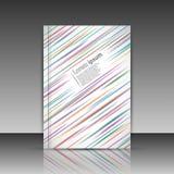 Linhas borradas coloridas folha do título do folheto Imagens de Stock