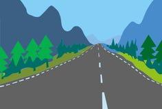 Linhas brancas de estrada asfaltada do país da ilustração de Digitas fotos de stock