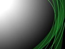 Linhas brilhantes verdes Imagens de Stock Royalty Free