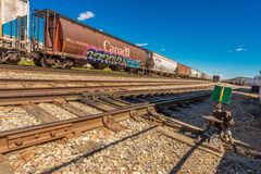 Linhas canadenses do frete Fotografia de Stock Royalty Free