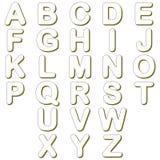 Linhas caráteres do alfabeto ilustração stock