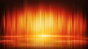 Linhas claras alaranjadas e fundo abstrato da reflexão Imagens de Stock
