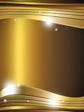 Linhas claras fundo do ouro Foto de Stock