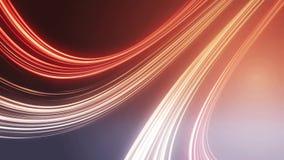 Linhas claras vermelhas abstratas fundo, laço vídeos de arquivo