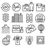 Linhas coleção do bloco dos ícones Imagem de Stock