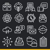 Linhas coleção do vetor do bloco dos ícones Imagens de Stock