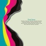 Linhas coloridas abstratas Imagens de Stock Royalty Free
