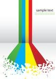 Linhas coloridas abstratas ilustração do vetor