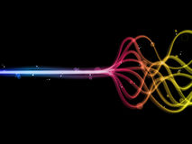 Linhas coloridas abstratas do arco-íris. Imagem de Stock