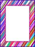 Linhas coloridas abstratas quadro Foto de Stock Royalty Free