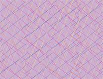 Linhas coloridas abstratas que sobrepõem o fundo cor-de-rosa da arte ilustração stock
