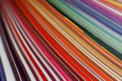 Linhas coloridas alaranjadas Fotos de Stock