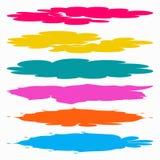 Linhas coloridas coleção dos símbolos dos grafittis Imagem de Stock