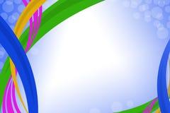 linhas coloridas da curva, fundo abstrato Fotografia de Stock