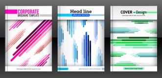 Linhas coloridas diagonais, verticais e horisontal abstratas ilustração do vetor