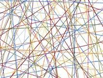 Linhas coloridas do algodão Fotografia de Stock Royalty Free
