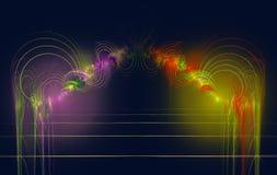 Linhas coloridas dos círculos concêntricos do Fractal ilustração stock