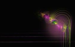 Linhas coloridas dos círculos concêntricos do Fractal ilustração do vetor