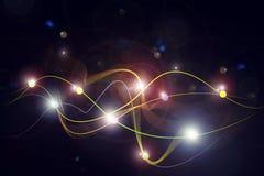Linhas coloridas em um fundo preto Fotografia de Stock