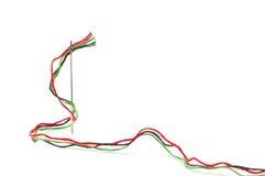 Linhas coloridas em uma agulha Imagem de Stock