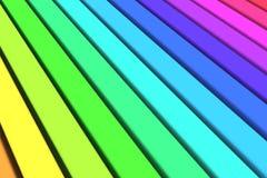 Linhas coloridas fundo Fotografia de Stock