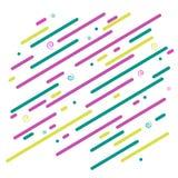 Linhas coloridas gráficas e espirais da diagonal brilhante abstrata do fundo em uma dinâmica de teste padrão futurista do papel d ilustração royalty free