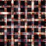 Linhas coloridas no fundo e na textura pretos Fotografia de Stock Royalty Free