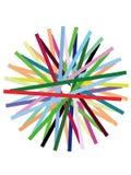 Linhas coloridas teste padrão Fotografia de Stock Royalty Free